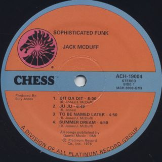 Jack McDuff / Sophisticated Funk label