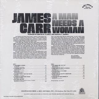 James Carr / A Man Needs A Woman back