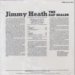 Jimmy Heath / The Gap Sealer back
