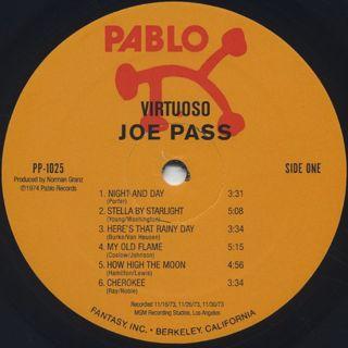 Joe Pass / Virtuoso label