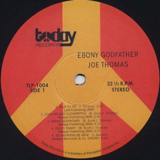 Joe Thomas / Is The Ebony Goodfather label
