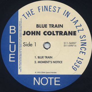 John Coltrane / Blue Train label