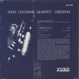 John Coltrane Quartet / Creation back