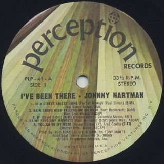 Johnny Hartman / I've Been There label