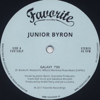 Junior Byron / Sunshine label