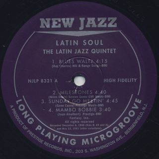 Latin Jazz Quintet / Latin Soul label