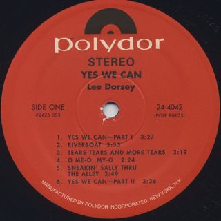 Lee Dorsey / Yes We Can label
