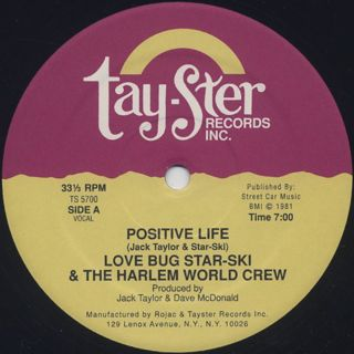 Love Bug Star-Ski & The Harlem World Crew / Positive Life back