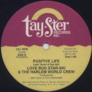 Love Bug Star-Ski & The Harlem World Crew / Positive Life label