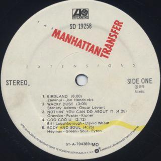Manhattan Transfer / Extensions label
