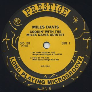 Miles Davis Quintet / Cookin' With The Miles Davis Quintet label