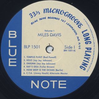 Miles Davis / Volume 1 label