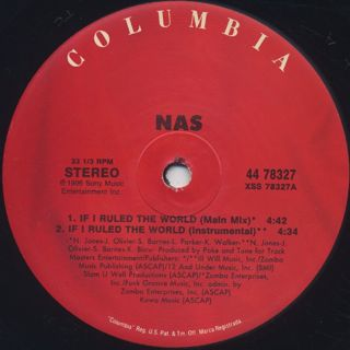 Nas / If I Ruled the World label