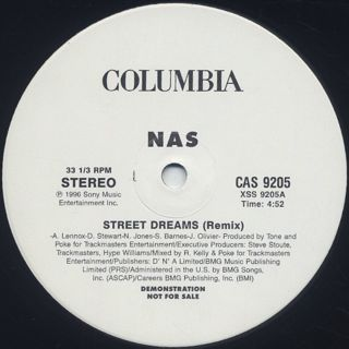 Nas / Street Dreams (Remix) back