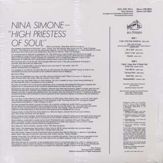 Nina Simone / Silk & Soul back