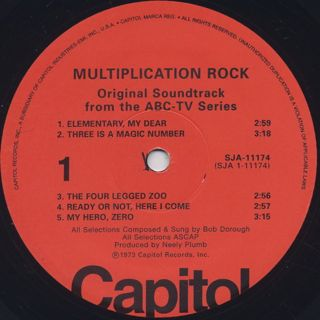 O.S.T.(Bob Dorough) / Multiplication Rock label