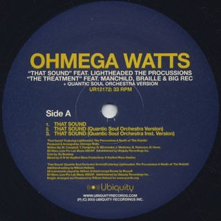Ohmega Watts / That Sound c/w The Treatment back