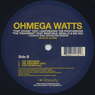 Ohmega Watts / That Sound c/w The Treatment label