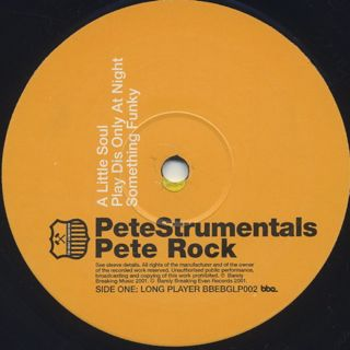 Pete Rock / PeteStrumentals (2LP) label