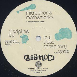 Quasimoto / Microphone Mathematics label