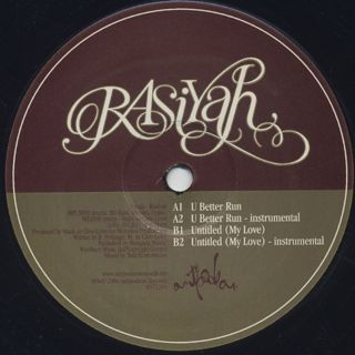 Rasiyah / U Better Run / Untitled (My Love) back