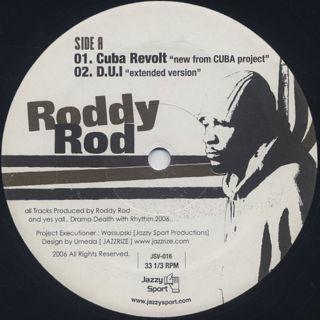 Roddy Rod / Cuba Revolt back