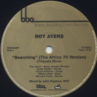 Roy Ayers / Searching (The Africa 70 Version) back