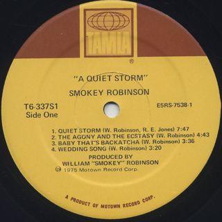 Smokey Robinson / A Quiet Storm label