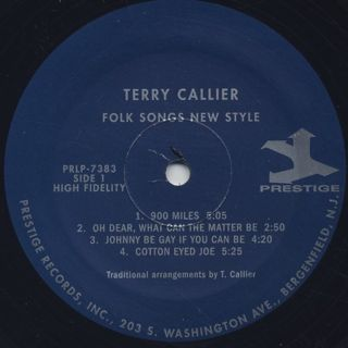 Terry Callier / The New Folk Sound Of Terry Callier label