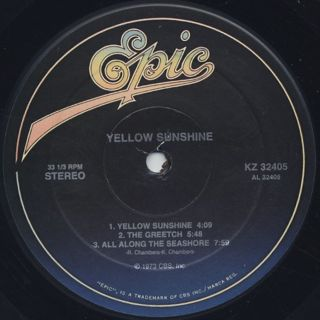 Yellow Sunshine / S.T. label