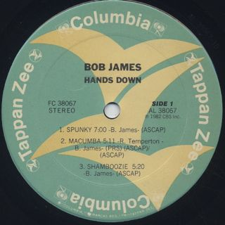 Bob James / Hands Down label
