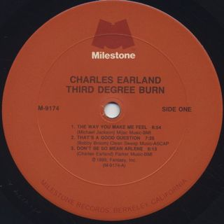 Charles Earland / Third Degree Burn label