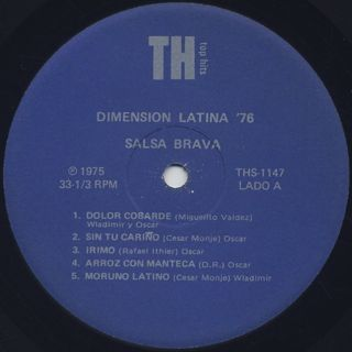 Dimension Latina '76 / Salsa Brava label