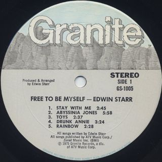 Edwin Starr / Free To Be Myself label
