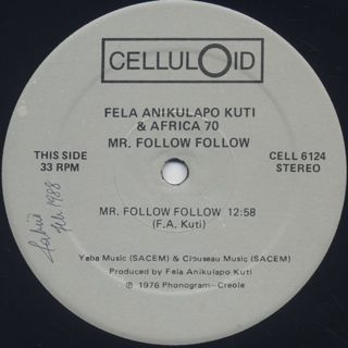 Fela Anikulapo Kuti / Mr. Follow Follow label