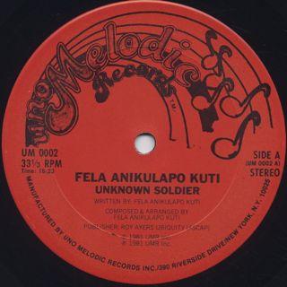 Fela Anikulapo Kuti / Unknown Soldier label