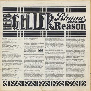 Herb Geller / Rhyme And Reason back