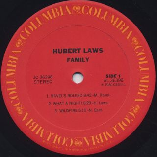 Hubert Laws / Family label