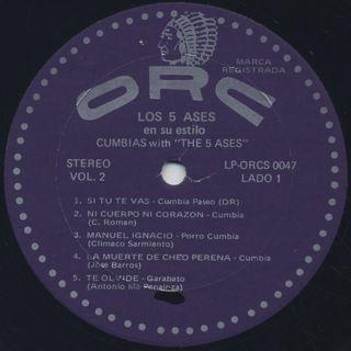 Los 5 Ases / Cumbias Con label