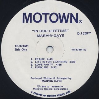 Marvin Gaye / In Our Lifetime (Promo)