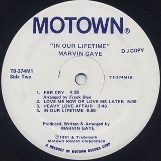 Marvin Gaye / In Our Lifetime (Promo) back