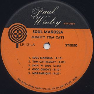 Mighty Tom Cats / Soul Makossa label