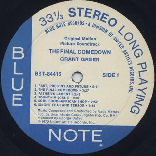 O.S.T.(Grant Green) / The Final Comedown label