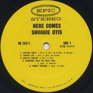 Shuggie Otis / Here Comes Shuggie Otis label