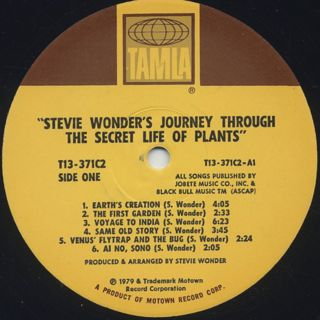 Stevie Wonder / Journey Through The Secret Life Of Plants label