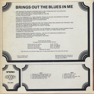 Syl Johnson / Brings Out The Blues In Me back