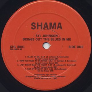 Syl Johnson / Brings Out The Blues In Me label