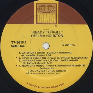 Thelma Houston / Ready To Roll label