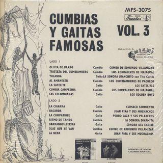 V.A. / Cumbias Y Gaitas Famosas De Colombia Vol. 3 back