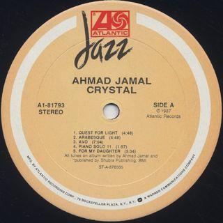 Ahmad Jamal / Crystal label